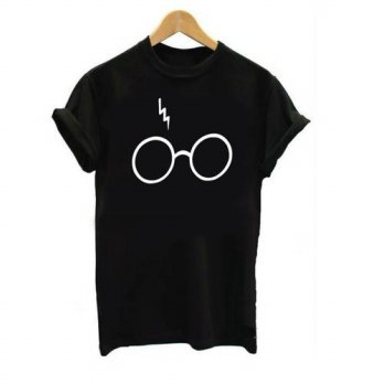 [globalbuy] 2016 New Womens Harry Potter Lightning Glasses Printed T-shirt Tees Harajuku T/4222382
