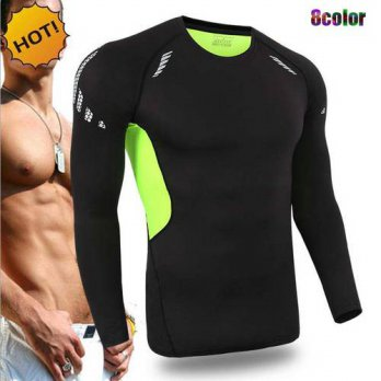[globalbuy] NEW Crossfit Outdoors Fitness Joggers Player Base Layer Men Long Sleeve SKinny/4215696