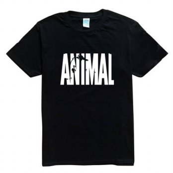 [globalbuy] Trends in 2016 fitness cotton brand clothes for men t-shirt Animal print track/4215658