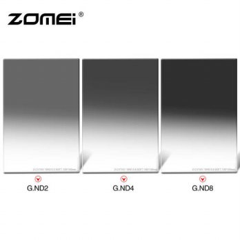 [globalbuy] Zomei Soft graduated 150*100mm Optical glass Neutral Density square filter ND2/3695151