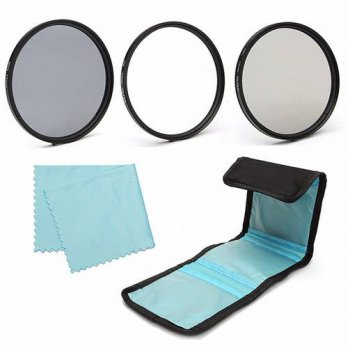 [globalbuy] 77mm UV CPL Polarizer ND 4 Neutral Density Lens Filter Kit For Canon For Nikon/3695142