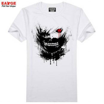 [globalbuy] Ink Paint Tokyo Ghoul T Shirt Japanese Hip Hop Anime T-shirt Cool Novelty Funn/4215641