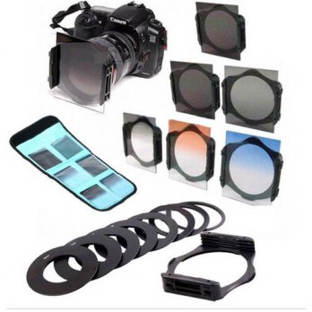 [globalbuy] ND2 ND4 ND8 Graduated Filter Kit 58mm Ring Adapter for Cokin P Series/3695156