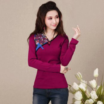 [globalbuy] Traditional Chinese clothing 2016 women pullover female autumn winter original/4222278