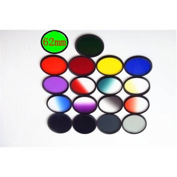 [globalbuy] 62mm Camera Lens Color Filter for Sony A57 A77 A65 A55 18-135mm Lens for Canon/3694985