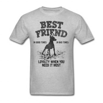 [globalbuy] High Quality 100 Cotton For Mens Doberman Best Friend Loyalty When You Need It/4215547