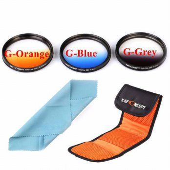 [globalbuy] 3pcs 52mm Graduated Orange Blue Grey Color Lens Filter Kit Set For Nikon D5200/3694934
