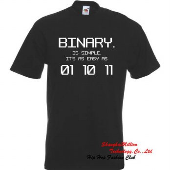 [globalbuy] Unisex BINARY As easy as 01, 10, 11 Funny Computer Programmer Geek IT Code Gif/4215542
