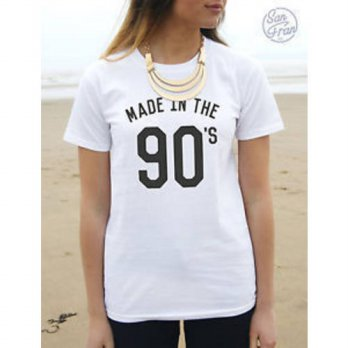 [globalbuy] 2015 NEW women cotton black white short sleeve tshirts 2015 fashion made in th/4222120