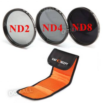 [globalbuy] 58mm Neutral Density ND2 ND4 ND8 ND 2+4+8 Filter Kit with case For Canon 600D /3694875