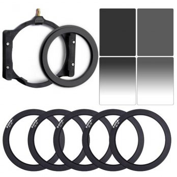 [globalbuy] ZOMEI Square 100mm ND8+ND16+67MM 72 77MM 82MM 86MM Rings+Holder For Cokin Z-PR/3694853