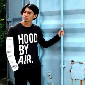 [globalbuy] Hood By Air HBA Long Sleeve t-shirt Men Top Quality Cotton Hip Hop T Shirt Men/4215459