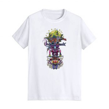 [globalbuy] new fashion men t shirt cartoon printed customized male tops short sleeve casu/4215451