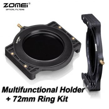 [globalbuy] ZOMEI Filter Holder + 72-72mm Adaptor Ring for Cokin Z-Pro Lee Tiffen Hitech K/3694797