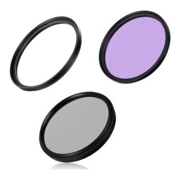 [globalbuy] 55mm UV Filter + CPL Filter +FLD Filter for Pentax For Nikon for Sony A450 A30/3694792