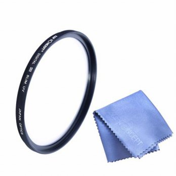 [globalbuy] 58mm, 67mm UV Filter With Cleaning Cloth For Canon T4i X6i T3 X50 60D 500D Nik/3694786