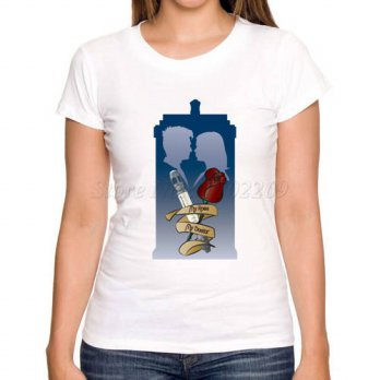 [globalbuy] DOCTOR WHO women t-shirt creative retro police box printed lady t shirts short/4221989