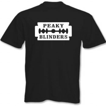 [globalbuy] Peaky Blinders Fashion unique classic cotton men round collar short sleeve T-s/4215342