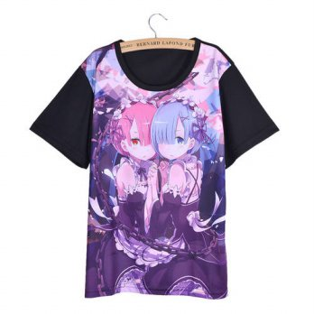 [globalbuy] Hot Japan Anime Re Zero Kara Hajimeru Isekai Seikatsu Cosplay Women T-shirt Sh/4221949
