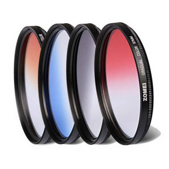 [globalbuy] 4in1 Zomei 62mm Pro Optical Graduated Color Orange Blue Red Gray Filter Kit Ne/3694720
