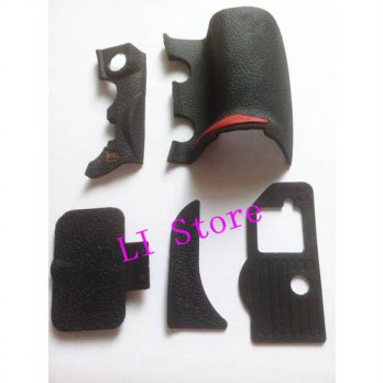 [globalbuy] New OEM Rubber Six Parts Replacement Part For Nikon D700 -5 Parts With Tape Di/3694719