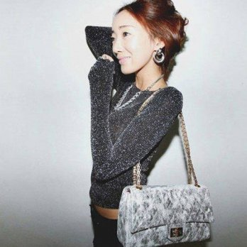 [globalbuy] Korean silver glitter BLING shoulder sexy slim shirt with long sleeves, long s/4221957