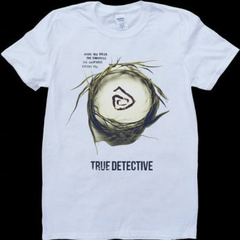 [globalbuy] True Detective new mens fashion cotton short-sleeve Round collar T-shirt/4215289