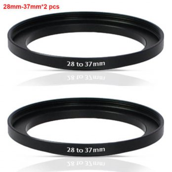 [globalbuy] High-quality 2 PCS 28-37MM Step-Up Ring Filter Adapter (28MM Lens to 37MM Acce/3694608