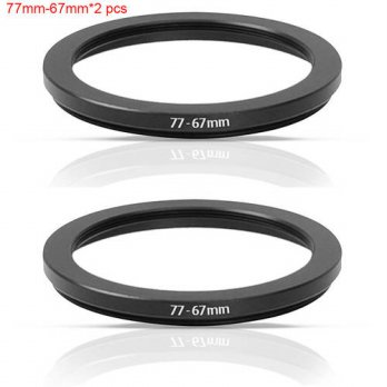 [globalbuy] JUST NOW High-quality 2 PCS 77-67MM Step-Down Ring Filter Adapter (77MM Lens t/3694545