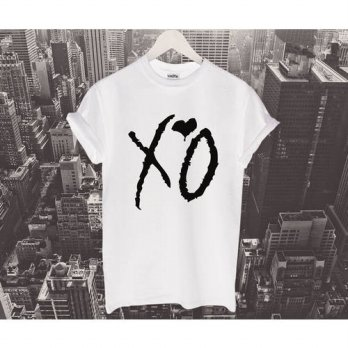 [globalbuy] Unisex XO T Shirt Ovoxo Drake Hip Hop Music Festival The Weekend OVO HEART Cot/4215228