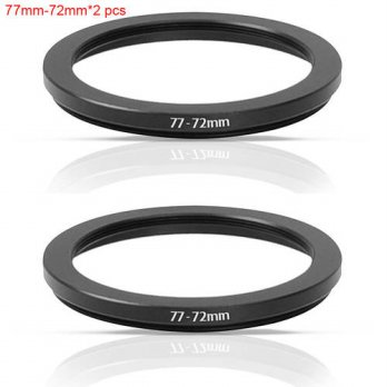 [globalbuy] JUST NOW High-quality 2 PCS 77-72MM Step-Down Ring Filter Adapter (77MM Lens t/3694553