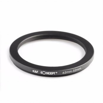 [globalbuy] K&F Concept 62-52mm Step Down Filter Adapter Ring 62mm to 52mm Metal Adapter R/3694551