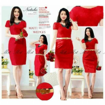 mst Natalie dress Wadges red