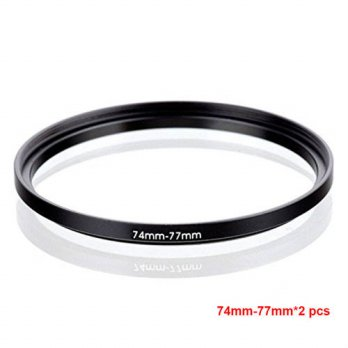 [globalbuy] JUST NOW High-quality 2PCS 74-77MM Step-Up Ring Filter Adapter (74MM Lens to 7/3694538