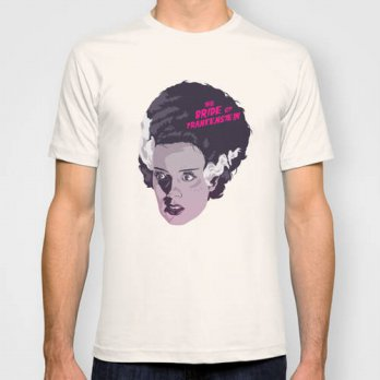 [globalbuy] THE BRIDE OF FRANKENSTEIN new Mens T-shirts Short Sleeve Tshirt Cotton t shirt/4215233