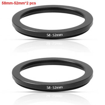 [globalbuy] JUST NOW High-quality 2 PCS 58-52MM Step-Down Ring Filter Adapter (58MM Lens t/3694470