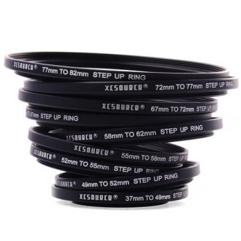 [globalbuy] 18pcs Set Camera Lens Filter Step Up / Down Ring Adapter For Canon Metal DC453/3694426