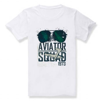 [globalbuy] 2016 Top Quality Tee Shirt Aviator Squad 1973 Summer Mens Cotton Short Sleeve /4215127