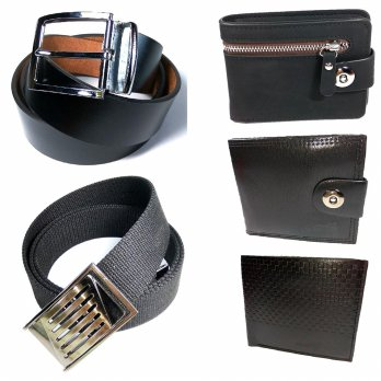 [1+1] [SO] New Vintage PU Mens Wallets And NEW Style Belt Mens Luxury Leather Belts