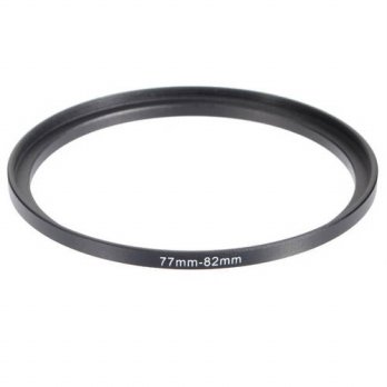 [globalbuy] 77-82mm 77mm-82mm 77 to 82 Metal Step Up Lens Filter Ring Stepping Adapter Bla/3694455