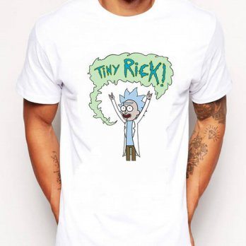 [globalbuy] Tiny Rick Let Me Out funy Men t-shirt short sleeve casual Free Rick printed to/4215142