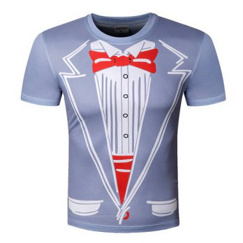 [globalbuy] 2016 New Tuxedo Funny Hotsale Men T Shirts leisure Top Tees 3D Print Tshirts C/4215133