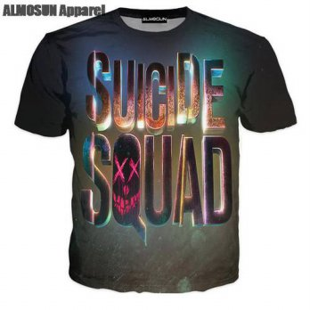 [globalbuy] ALMOSUN Suicide Squad 3D All Over Print T Shirts Sportwear Short Sleeve Hipste/4215125