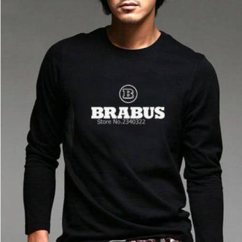 [globalbuy] New spring autumn BRABUS long-sleeved T-shirt modified car cotton full sleeve /4215123