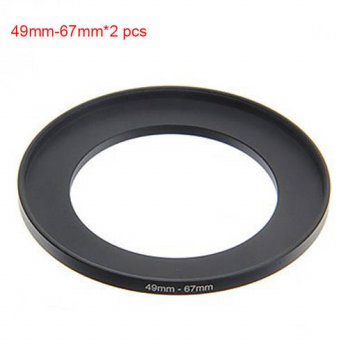 [globalbuy] JUST NOW High-quality 2PCS 49-67MM Step-Up Ring Filter Adapter (49MM Lens to 6/3694323