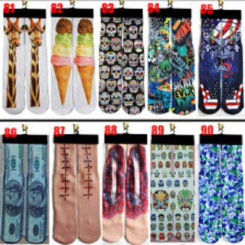 [globalbuy] Up to date fashion popular 3d printer odd wink bottom thick towel socks wholes/4213368