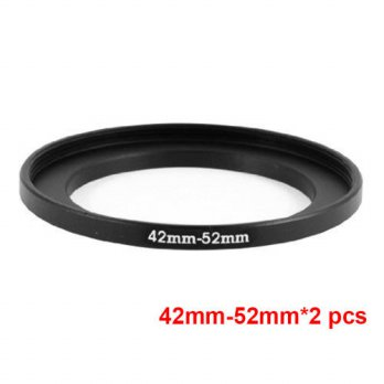 [globalbuy] JUST NOW High-quality 2PCS 42-52MM Step-Up Ring Filter Adapter (42MM Lens to 5/3694275