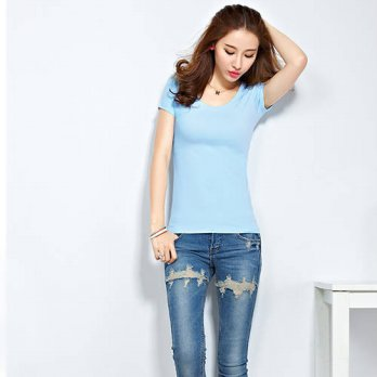 [globalbuy] 2016 New Summer Womens T Shirts Short Sleeve Tops Tees Tshirt Fashion For Wome/4221648