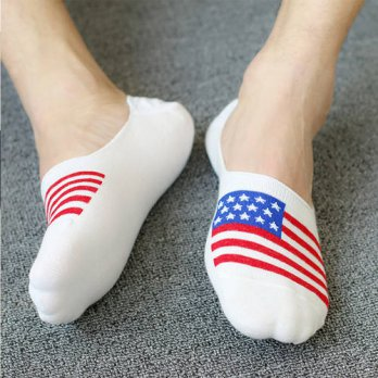 [globalbuy] Hot sell 2016 Cotton classic brand man and women Flag socks meias Mens invisib/4213336
