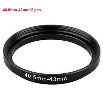 [globalbuy] JUST NOW High-quality 2PCS 40.5-43MM Step-Up Ring Filter Adapter (40.5MM Lens /3694295